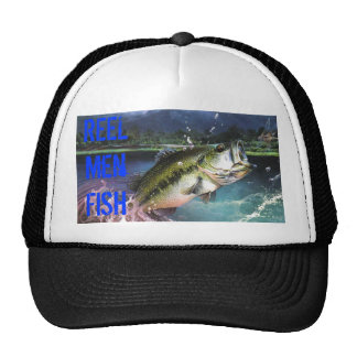 fish jumping out of water, REEL Men FISH Trucker Hat