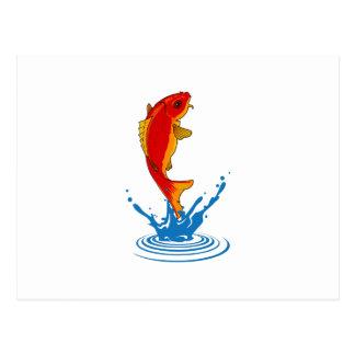 FISH JUMPING POSTCARDS