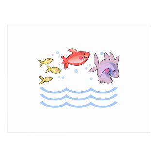 FISH JUMPING POSTCARD