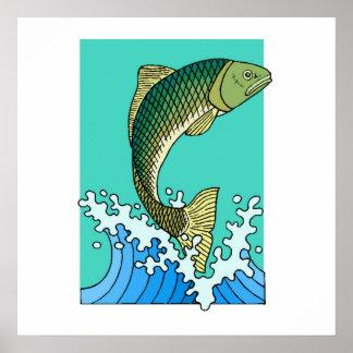 Fish Jumping Print