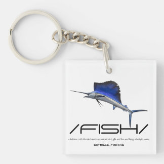 FISH Single-Sided SQUARE ACRYLIC KEYCHAIN