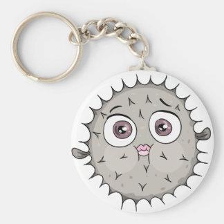 fish keychan basic round button keychain