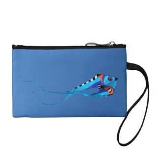Fish Kite Flying High Coin Purses