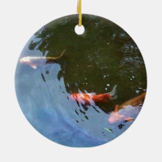 Koi carp pond ornaments keepsake ornaments zazzle for Fish pond ornaments
