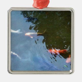 Fish, Koi Carps in pond Christmas Ornaments