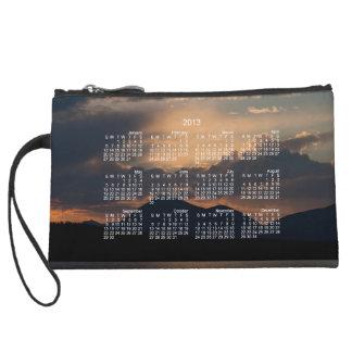Fish Lake Sunset 2013 Calendar Wristlet Purse