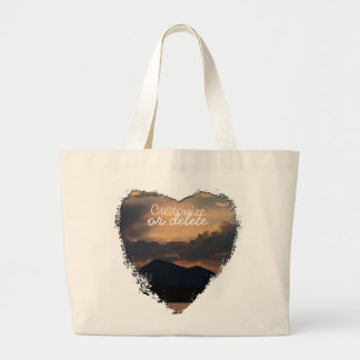Fish Lake Sunset Customizable Canvas Bags