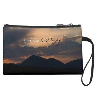 Fish Lake Sunset Customizable Wristlet Clutch