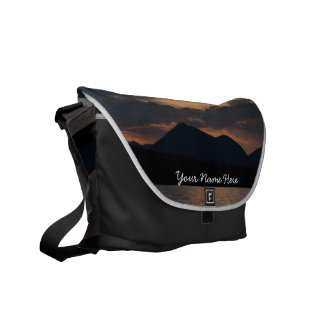Fish Lake Sunset Customizable Courier Bag