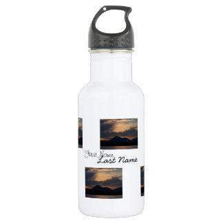 Fish Lake Sunset; Customizable Water Bottle