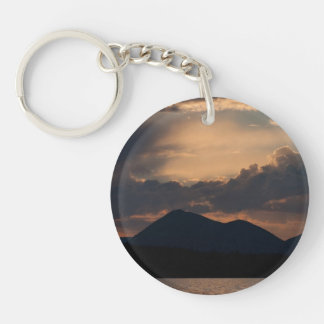Fish Lake Sunset; No Text Keychain