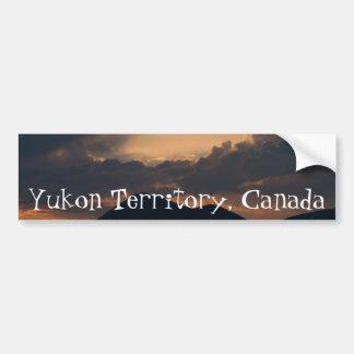 Fish Lake Sunset; Yukon Territory Souvenir Car Bumper Sticker