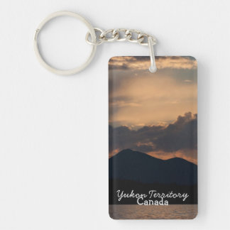 Fish Lake Sunset; Yukon Territory Souvenir Keychain