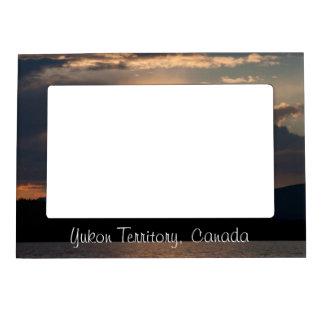 Fish Lake Sunset; Yukon Territory Souvenir Magnetic Photo Frame