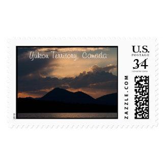 Fish Lake Sunset; Yukon Territory Souvenir Stamp