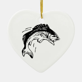 Fish Leaping Out of Water Ceramic Ornament