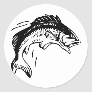 Fish Leaping Out of Water Classic Round Sticker