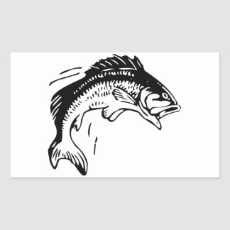 Fish Leaping Out of Water Rectangular Sticker