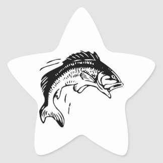 Fish Leaping Out of Water Star Sticker