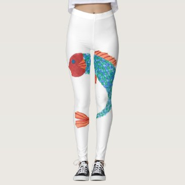 Beach Themed Fish Leggings