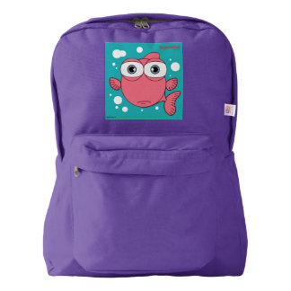 Fish(Light Red) Backpack, Amethyst Backpack
