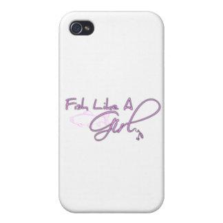Fish Like A Girl (Salmon) iPhone 4 Case