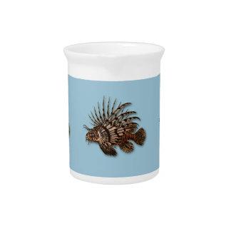Fish lionfish aquatic seawater aquarium pitcher