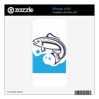 Fish logo design decal for the iPhone 4S