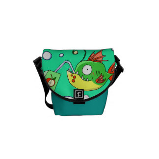 Fish Love Apple Juice Mini Messenger Bag