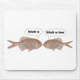 Fish Love Mouse Pad