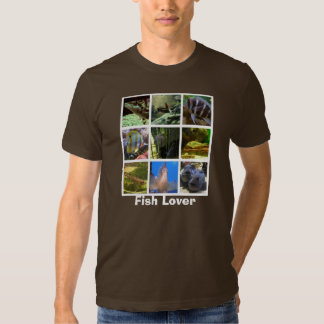 Fish Lover Grid Tee Shirt