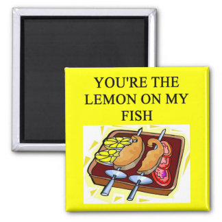 fish lovers 2 inch square magnet
