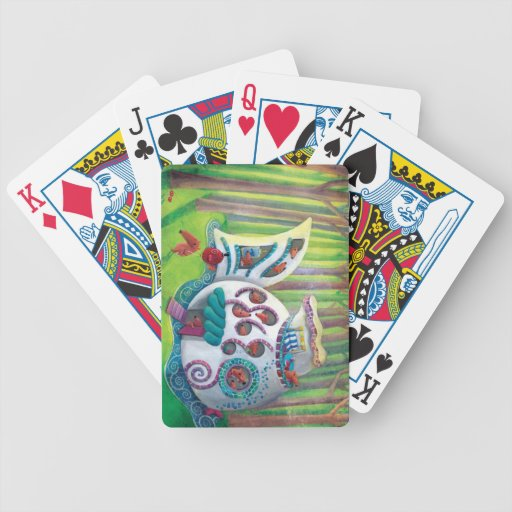 Fish Magical  Mansion in the Forest Bicycle Playing Cards
