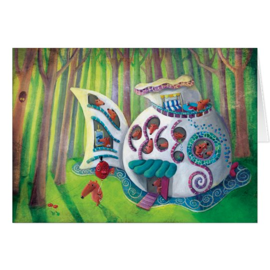 Fish Magical  Mansion in the Forest Card