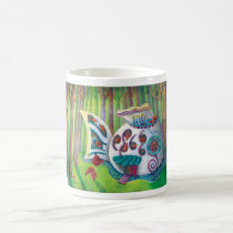 artsprojekt, magic house, magic mansion, mansion, house, fish, monsters, cute monsters, fish house, gaudi, gaudi casa, deep forest, childrens illustration, for kids, magic, luxury, Mug with custom graphic design