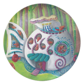 Fish Magical  Mansion in the Forest Dinner Plate