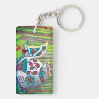 Fish Magical  Mansion in the Forest Acrylic Key Chains