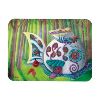 Fish Magical  Mansion in the Forest Magnet