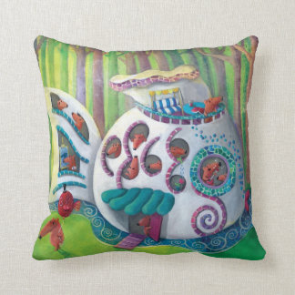 Fish Magical  Mansion in the Forest Pillow
