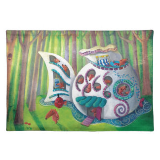 Fish Magical  Mansion in the Forest Placemats