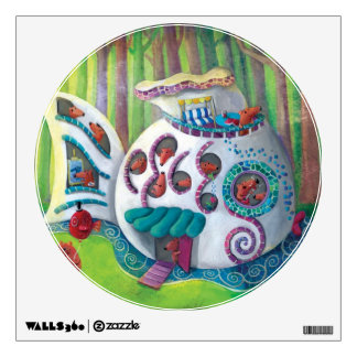 Fish Magical  Mansion in the Forest Wall Sticker