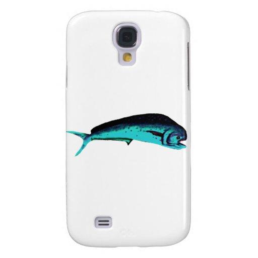 Fish Mahimahi Cyan The MUSEUM Zazzle Gifts Samsung Galaxy S4 Cover