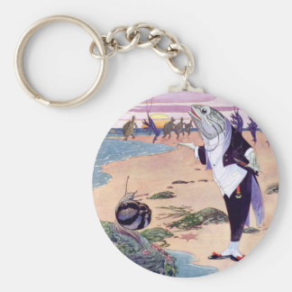 Fish Maitre D at the Lobster Quadrille Key Chain