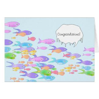 Fish Marine Biologist Graduation Congratulations Card