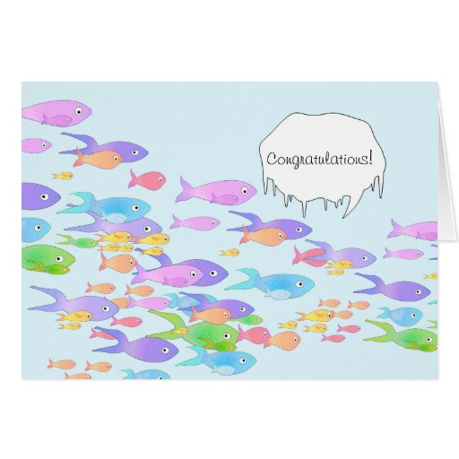 Fish Marine Biologist Graduation Congratulations Card   Zazzle