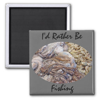 Fish Market 2 Inch Square Magnet
