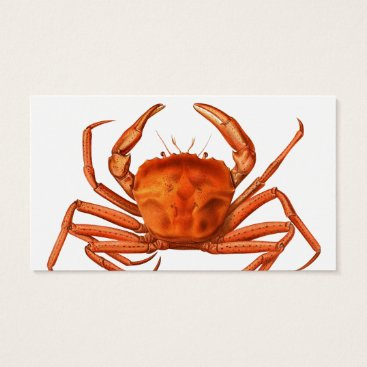 Professional Business Fish Market Business Card - Red Crab
