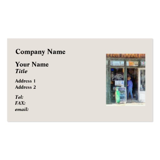Fish Market Business Card Template