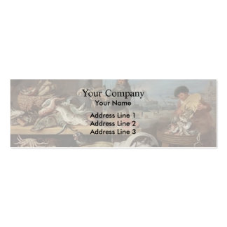 Fish market by Frans Snyders Business Card Templates