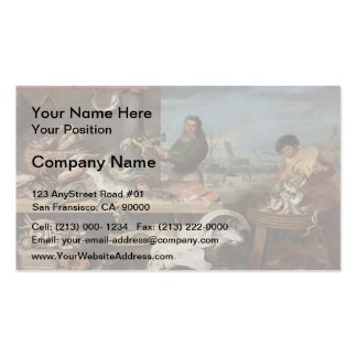 Fish market by Frans Snyders Business Cards